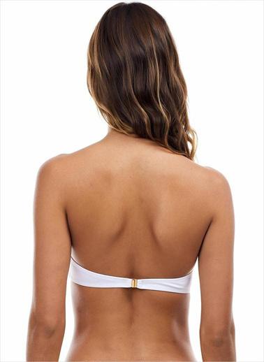 Ayyıldız Kadın Straplez Bikini Üstü 63549 Beyaz